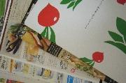 商品カタログと紙の注文用紙、らでぃっしゅぼーや